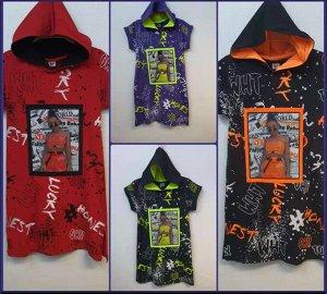 Платье Черный/оранжевый 1 ряд