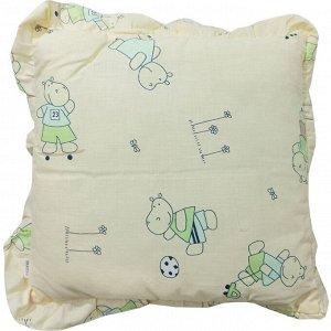Подушка детская с рюшей 35х35см 0086 бежевый