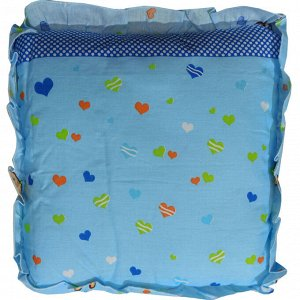Подушка детская с рюшей 35х35см 0086 голубой