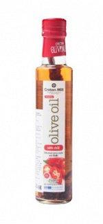 Масло оливковое Extra Virgin с перцем чили CRETAN MILL нерафинированное