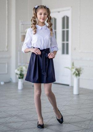 Школьная юбка Мэнкс, цвет т.синий