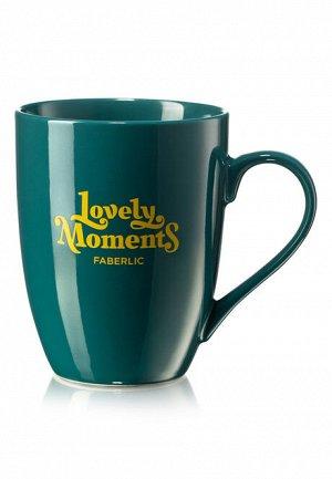 Кружка «Тёплые моменты», цвет зелёный