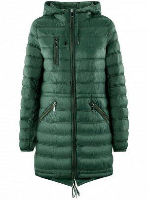 Куртка удлиненная с асимметричным низом