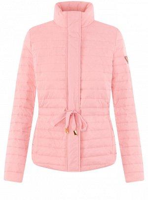 Куртка приталенная с воротником-стойкой