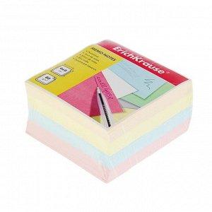 Блок бумаги для записей Erich Krause 9 х 9 х 5 см, цветной, плотность 80г/м2