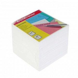 Блок бумаги для записей Erich Krause, 9 х 9 х 9 см, белый, плотность 80 г/м2