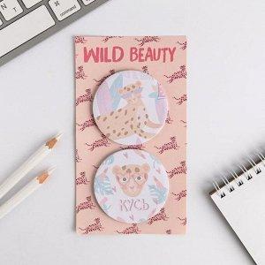 Стикеры на подложке, Wild beauty 2 шт.