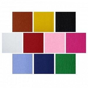Набор бумаги крепированной 50 х 250 см, плотность - 40 г/м, в рулоне, осенняя палитра, микс