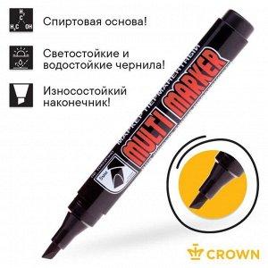 Маркер перманентный скошенный 5.0-1.0 мм Crown MULTI MARKER чёрный CPM-800CH