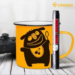 Маркер перманентный 3.0 мм Crown MULTI MARKER чёрный