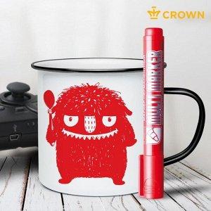 Маркер перманентный 3.0 мм Crown MULTI MARKER красный