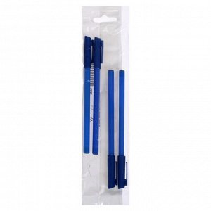 Набор ручек шариковых 4 штуки «Стамм» 111 «Офис», узел 0.7-1.0 мм, чернила синие, европодвес