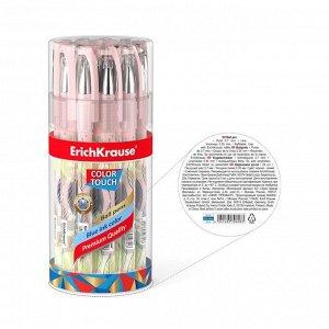 Ручка шариковая ErichKrause ColorTouch Flora, узел 0.7 мм, чернила синие