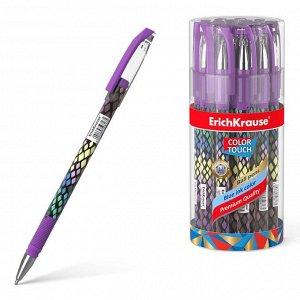 Ручка шариковая ErichKrause ColorTouch Purple Python, узел 0.7 мм, чернила синие