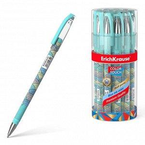 Ручка шариковая ErichKrause ColorTouch Emerald Wave, узел 0.7 мм, чернила синие