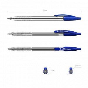 Ручка шариковая автоматическая ErichKrause R-301 Classic Matic 1.0, синяя, блистер