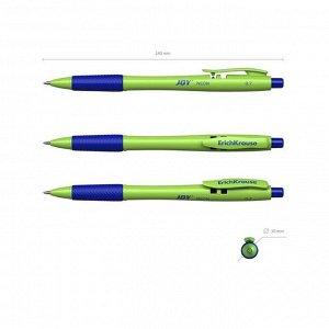 Ручка шариковая автомат ErichKrause JOY Neon, Ultra Glide Technology, чернила синие, МИКС