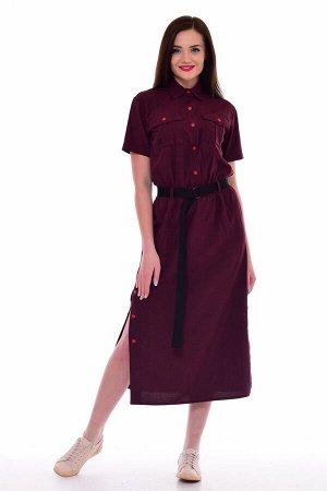 *Платье женское Ф-1-65в (вишня)