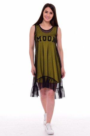 *Платье женское Ф-1-063б (желтый)