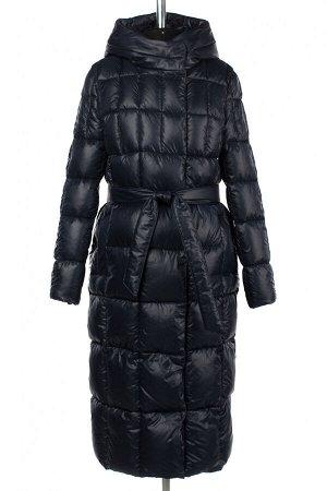 05-1963 Куртка женская зимняя (Био-пух 300) Плащевка темно-синий