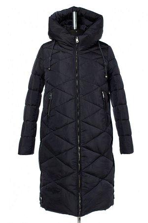 05-1939 Куртка женская зимняя ( синтепух 300) Плащевка темно-синий