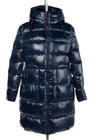 05-1952 Куртка женская зимняя (Био-пух 300) Плащевка темно-синий