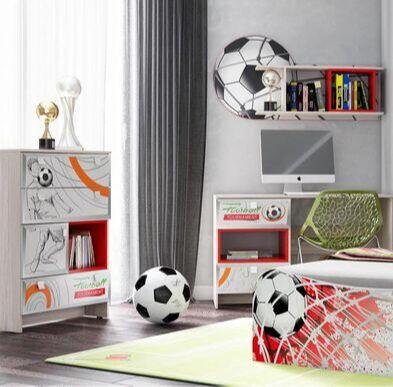 Новая, невероятно стильная мебельная коллекция АРТ — Мебель для спортивных мальчишек ФУТБОЛ — Гарнитуры