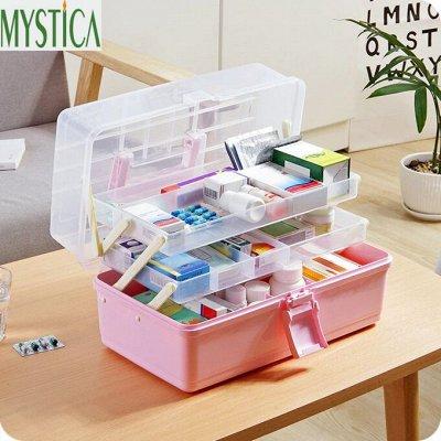 Организация хранения. — Боксы пластиковые цветные — Системы хранения