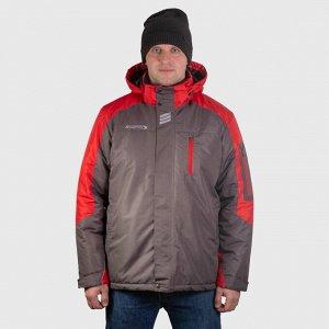 Куртка , серый с красным