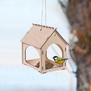 Kopмушка для птиц, 18,5 ? 13,5 ? 18,5 см, «Комплект-А»