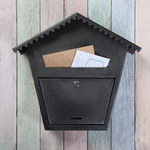 Ящик почтовый с замком, вертикальный, «Варшава 2», чёрный муар