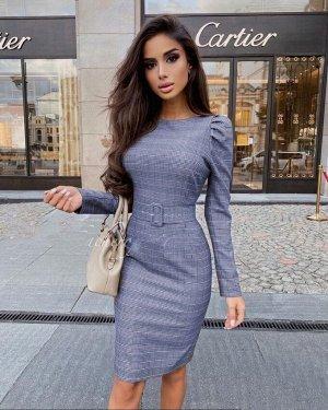 Платье ТКАНЬ: БУКЛЕ  ПОЯС В КОМПЛЕКТЕ