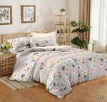 Постельное белье из Поплина 2 спальный с европростыней на резинке