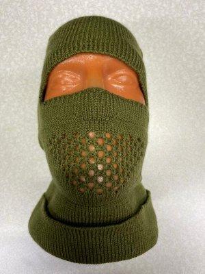 Шапка-маска 'орнамент' (зелёная)