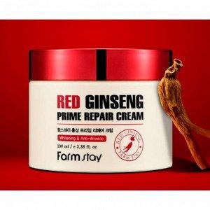 Farm Stay Red Ginseng Prime Repair Cream.Восстанавливающий крем с красным женьшенем 100мл
