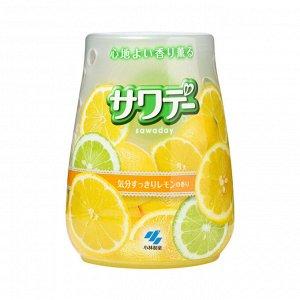 Освежитель воздуха для туалета «Lemon»/«Sawaday–аромат лемонграсса», 140 г