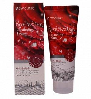 Пенка для умывания РОЗОВАЯ ВОДА/НАТУРАЛЬНАЯ Rose Water Foam Cleansing, 100 мл 3W CLINIC