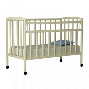 """Кровать детская """"Magico mini"""" (колесо/качалка, откид.планка КР1-02м) (слоновая кость)"""