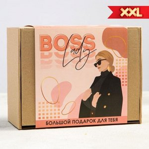 Подарочный набор Boss lady, чай 50 г., термостакан с чаем 20 г., драже шоколадное 80 г., шоколад 4 шт. * 5 г.