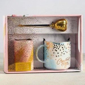 Подарочный набор «Счастье есть»: кружка 350 мл, сито, чай чёрный 25 г.