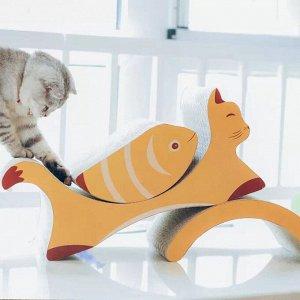 """Когтеточка оранжевая """"Кошка с рыбой"""""""