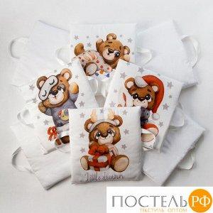 Набор подушек Крошка Я «Мишка» цвет белый 35х35 см -8 шт