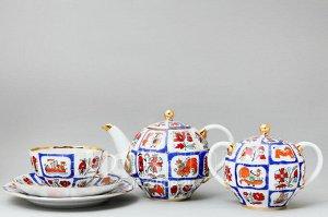 Сервиз чайный ф. Тюльпан рис. Русский лубок (20 предметов)