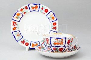 Комплект чайный ф. Тюльпан рис. Русский лубок