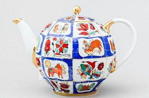 Чайник доливной ф. Тюльпан рис. Русский лубок