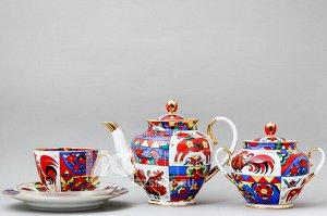 Сервиз чайный ф. Весенняя рис. Народные узоры (20 предметов)