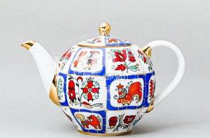 Чайник заварочный ф. Тюльпан рис. Русский лубок