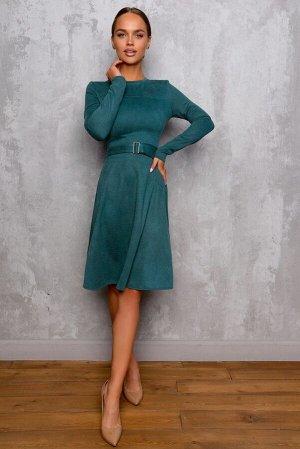 Платье Размер: 42 / 44 / 46 / 48 Плотная трикотажная замша . сзади замок 50 см