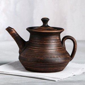 Чайник заварочный гончарный 1.5л. ,накат
