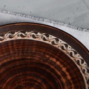 Тарелка 21 см. ангоб